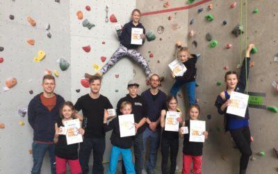 Das Wupperwände Wettkampfteam auf dem ersten Kids-Cup der Saison 2019 in Aachen
